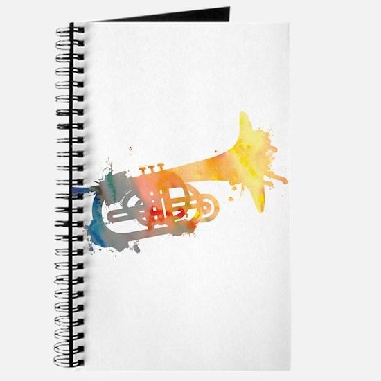 Paint Splat Mellophone Journal
