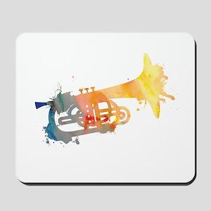 Paint Splat Mellophone Mousepad