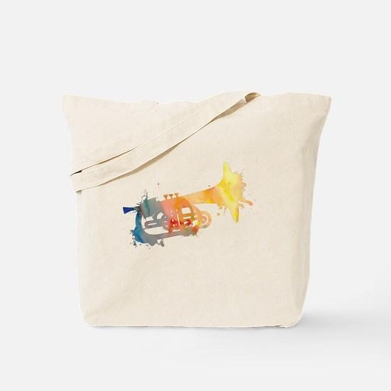 Paint Splat Mellophone Tote Bag