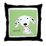 Dalmatian Woof Throw Pillow