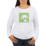 Dalmatian Woof Women's Long Sleeve T-Shirt
