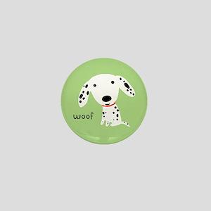 Dalmatian Woof Mini Button