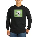 Dalmatian Woof Long Sleeve Dark T-Shirt