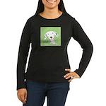 Dalmatian Woof Women's Long Sleeve Dark T-Shirt