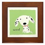 Dalmatian Woof Framed Tile