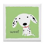 Dalmatian Woof Tile Coaster