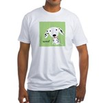 Dalmatian Woof Fitted T-Shirt