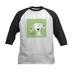 Dalmatian Woof Kids Baseball Jersey