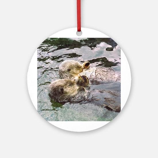 Sea Otter Love Keepsake (Round)