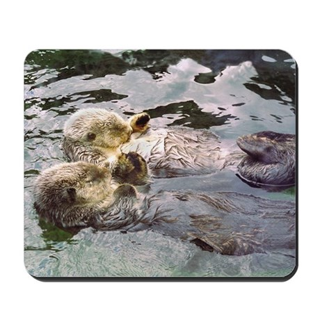 Sea Otter Love Mousepad