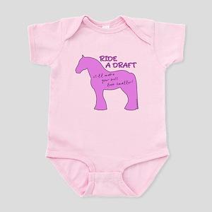 Ride a Draft! Horse Infant Bodysuit