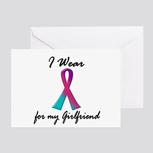 Thyroid Ribbon 1 (Girlfriend) Greeting Card