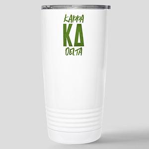 Kappa Delta Lette 16 oz Stainless Steel Travel Mug
