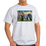 St. Francis/3 Labradors Light T-Shirt