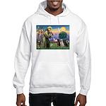 St. Francis/3 Labradors Hooded Sweatshirt