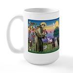 St. Francis/3 Labradors Large Mug