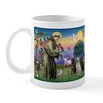 St. Francis/3 Labradors Mug