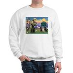 St. Francis/3 Labradors Sweatshirt
