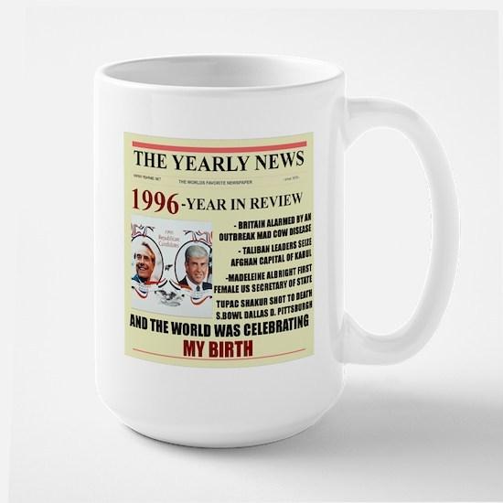 born in 1996 birthday gift Large Mug