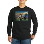 St. Fran/ Flat Coated Ret Long Sleeve Dark T-Shirt