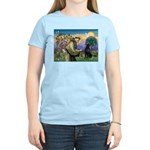 St. Fran/ Flat Coated Ret Women's Light T-Shirt