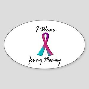 Thyroid Ribbon 1 (Mommy) Oval Sticker