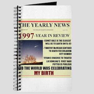 born in 1997 birthday gift Journal