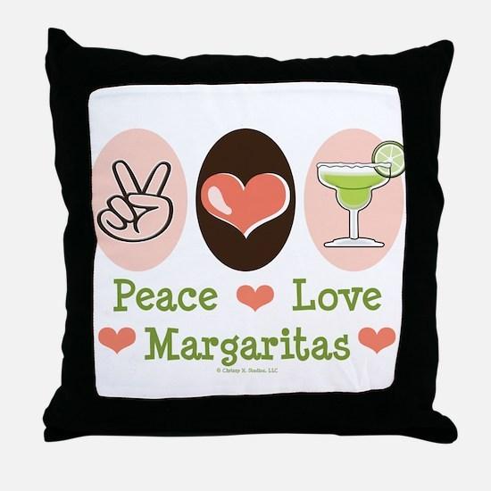 Peace Love Margarita Throw Pillow