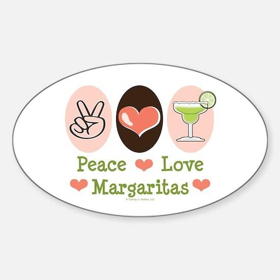 Peace Love Margarita Oval Decal