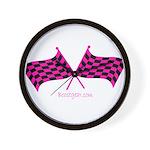 Boostgear's Hot Pink Racing Flags Wall Clock