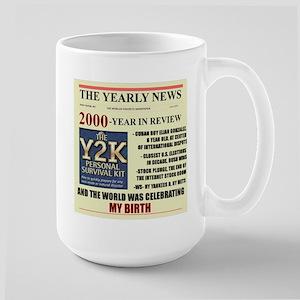 born in 2000 birthday gift Large Mug