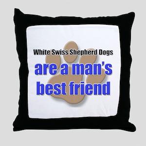 White Swiss Shepherd Dogs man's best friend Throw