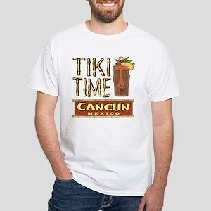 Cancun Tiki Time - White T-Shirt