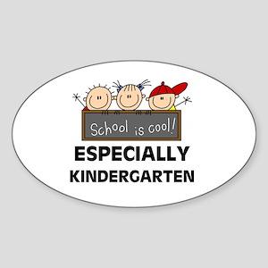 Kindergarten is Cool Oval Sticker