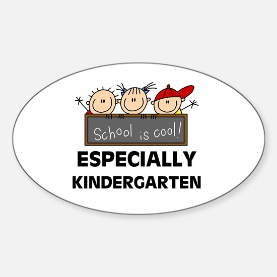 Kindergarten is Cool Oval Decal