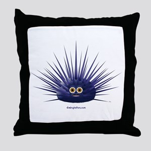 Purple Sea Urchin Throw Pillow