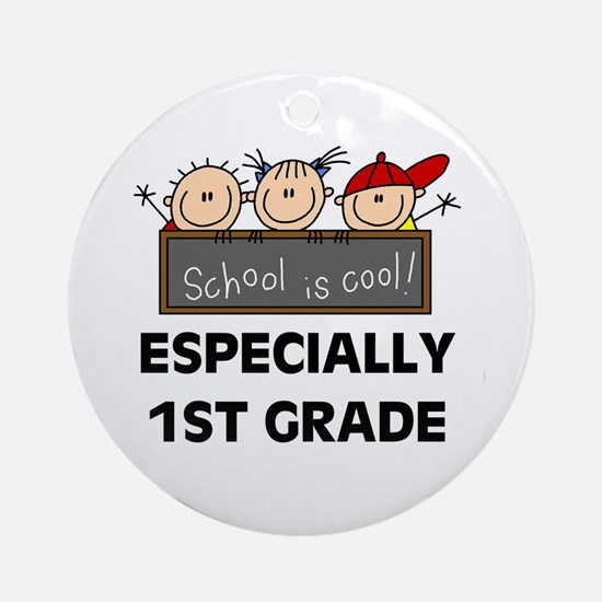 1st Grade is Cool Ornament (Round)