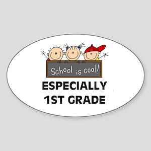 1st Grade is Cool Oval Sticker