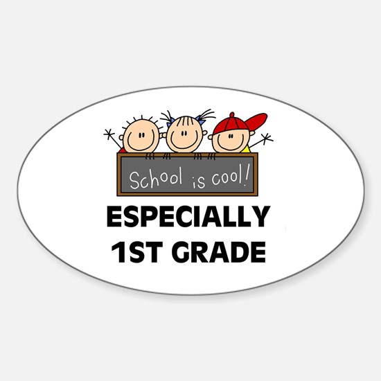 1st Grade is Cool Oval Stickers