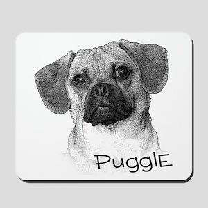 Perfect Puggle Portrait Mousepad