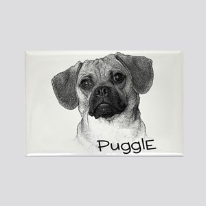 Perfect Puggle Portrait Rectangle Magnet