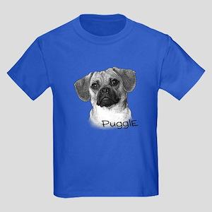 Perfect Puggle Portrait Kids Dark T-Shirt