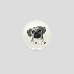 Perfect Puggle Portrait Mini Button