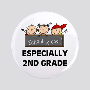 "2nd Grade is Cool 3.5"" Button"