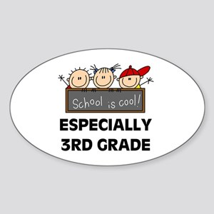 3rd Grade is Cool Oval Sticker