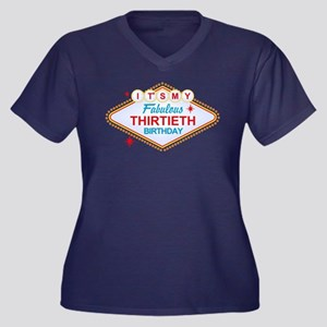 Las Vegas Birthday 30 Plus Size T-Shirt