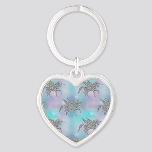 Silver Glitter Unicorns Keychains