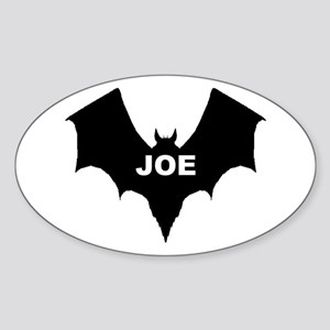 BLACK BAT JOE Oval Sticker