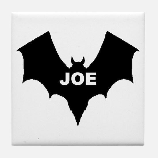 BLACK BAT JOE Tile Coaster