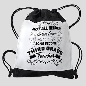 Third Grade Teacher Drawstring Bag
